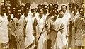 Leela Roy alone with other founder member of Samaj Sebi Sangha.jpg