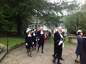 High sheriff - High sheriffs customarily wear velvet Court Dress suits on formal occasions