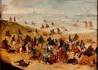 Battle of Lekkerbeetje - Battle of Lekkerbeetje, attributed to Esaias van de Velde.