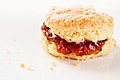 Lemon Scone with Jam (6849605425).jpg
