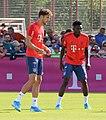 Leon Goretzka Alphonso Davies Training 2019-09-01 FC Bayern Muenchen-2.jpg