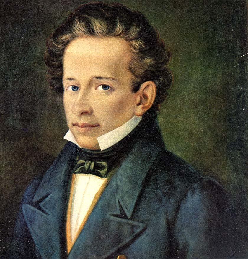Leopardi, Giacomo (1798-1837) - ritr. A Ferrazzi, Recanati, casa Leopardi