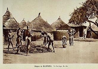 Banfora - A village scene from the area around Banfora, 1931