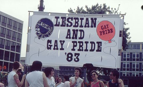 Lesbian Strength March London 1983 start.jpg