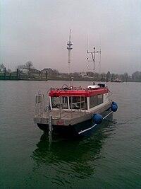 Hydrographisches Vermessungsboot Level-A der HCU in Wedel (Foto: Böder)