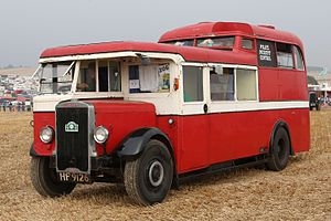 Leyland Titan (front-engined double-decker) - A Leyland TD7 Titan that was later used as a mobile control unit by Lancashire Police