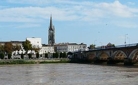 View of Libourne and the Dordogne river