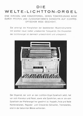 Image illustrative de l'article Lichtton-Orgel