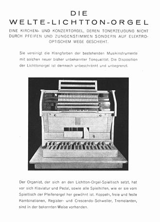 Sampler (musical instrument) - Image: Lichtorgel