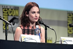 Lily James - James at the 2015 San Diego Comic-Con International