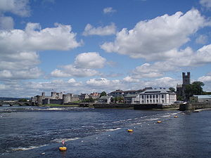 King's Island, Limerick - View of Englishtown on King's Island from the River Shannon.