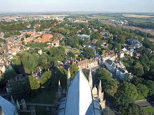 Lincoln County Hospital - Distant view of the area from Lincoln Cathedral