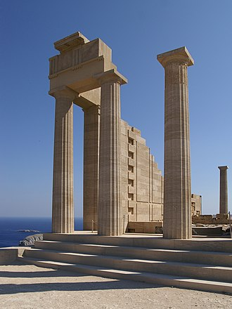 Culture of Greece - Doric Temple of Athena Lindia in Lindos, Rhodes.