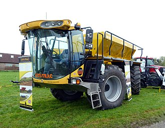 Fertilizer - A Lite-Trac Agri-Spread lime and fertilizer spreader at an agricultural show