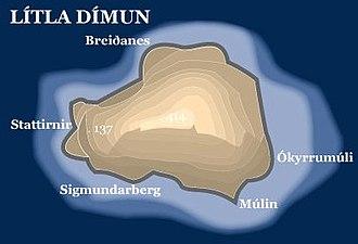 Lítla Dímun - Image: Litla dimun map
