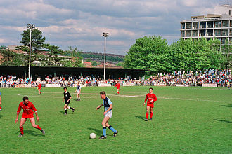 Loakes Park - Final game (Monday 7 May 1990) - Wycombe Wanderers v Martin O'Neill's International XI