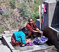Local folks laundering - Annapurna Circuit, Nepal - panoramio.jpg