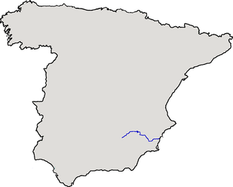 Segura - Location of the river within Spain.