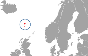 Location of the Faroe Islands