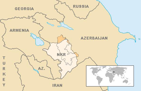 Location Artsakh en