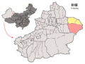 Location of Hami City within Xinjiang (China).png