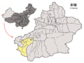 Location of Kashgar City within Xinjiang (China).png