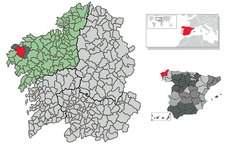 Vimianzo – Mappa