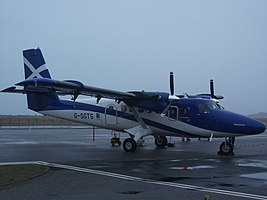 Loganair Viking Air DHC-6-400 Twin Otter at Tiree Airport.jpg