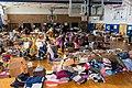 Long Beach Island, N.J., Nov. 26, 2012 -- A local donation center in a school gymnasium helps residents affected by Hurricane Sandy. FEMA coordinates with many volunteer agencies to - DPLA - da0cd1839aec9e5d9f7cfd9c8bf7f5f7.jpg