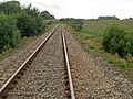 Looking West along railway track - geograph.org.uk - 218142.jpg