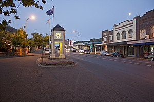 Moss Vale, New South Wales - Argyle Street, which forms part of the Illawarra Highway