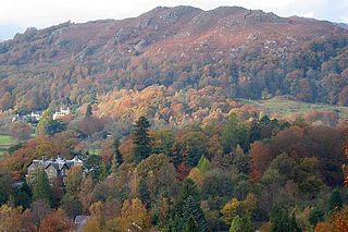Loughrigg Fell hill in the central part of the English Lake District