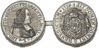 Louis Constantin de Rohan (1697–1779) - Image: Louis Constantin de Rohan Montbazon Muenze