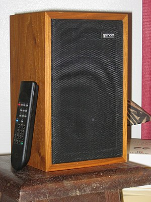 Studio monitor - Late model (c.1998) BBC LS3/5A manufactured under license by Spendor