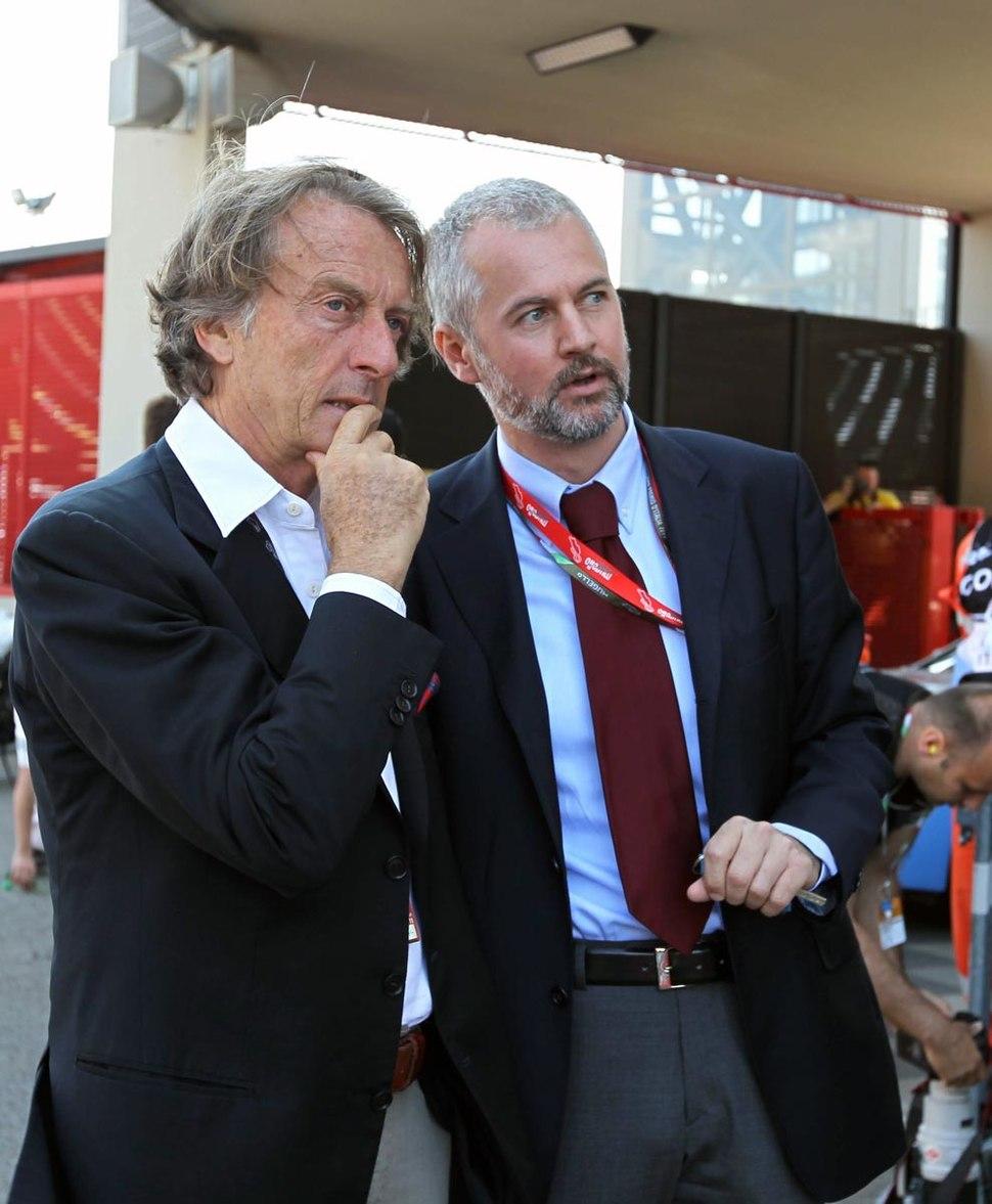 Luca di Montezemolo con Paolo Poli