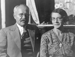 Ludvig Puusepp - Ludvig Puusepp with his wife in 1930