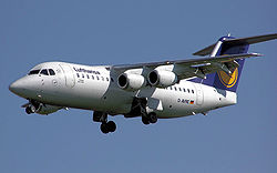 An Avro RJ85. BAE Systems Regional Aircraft still leases a large number of these jets.