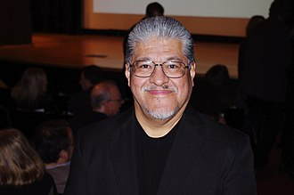 Rodriguez at the National Book Critics Circle Awards in 2012 Luis J Rodriguez 2011 NBCC Awards 2012 Shankbone.jpg