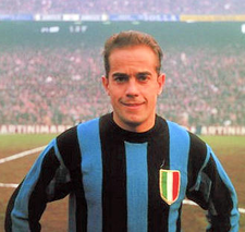 Spanish midfielder Luis Suarez was the main playmaker of the Grande Inter side of the 1960s under manager Helenio Herrera. Luis Suarez Miramontes Inter San Siro.png