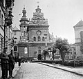 Lviv 1942, a Bernardine jezsuita templom és kolostor. Fortepan 6427.jpg