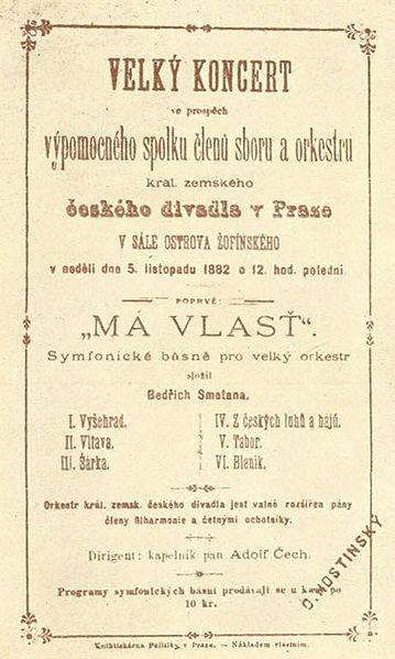 File:Má vlast - plakát k prvnímu představení.jpg
