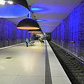 München U-Bahn-Station Westfriedhof - Leuchten Ingo Maurer Team-2.JPG