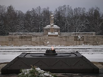 Eternal flame - The eternal flame at Brothers' Cemetery, Riga, Latvia