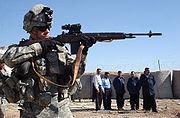 M-14 rifle demonstration