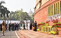 M. Venkaiah Naidu, the Prime Minister, Shri Narendra Modi, the former Prime Minister, Dr. Manmohan Singh and the Speaker, Lok Sabha, Smt. Sumitra Mahajan at an event to pay homage to the martyrs of the 2001 Parliament attack (1).jpg