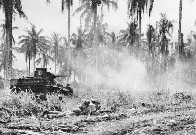 M3 Light Tanks assault on Buna