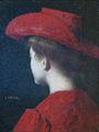 MA Zwiller-Jeune fille de dos au chapeau rouge-Musée sundgauvien.jpg