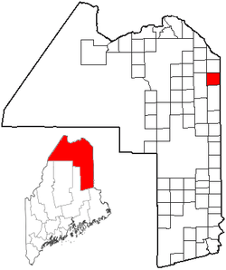 Location of Limestone, Maine