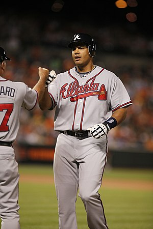 Fist bump - Cuban baseball player Bárbaro Cañizares bumping fists with a teammate in 2009