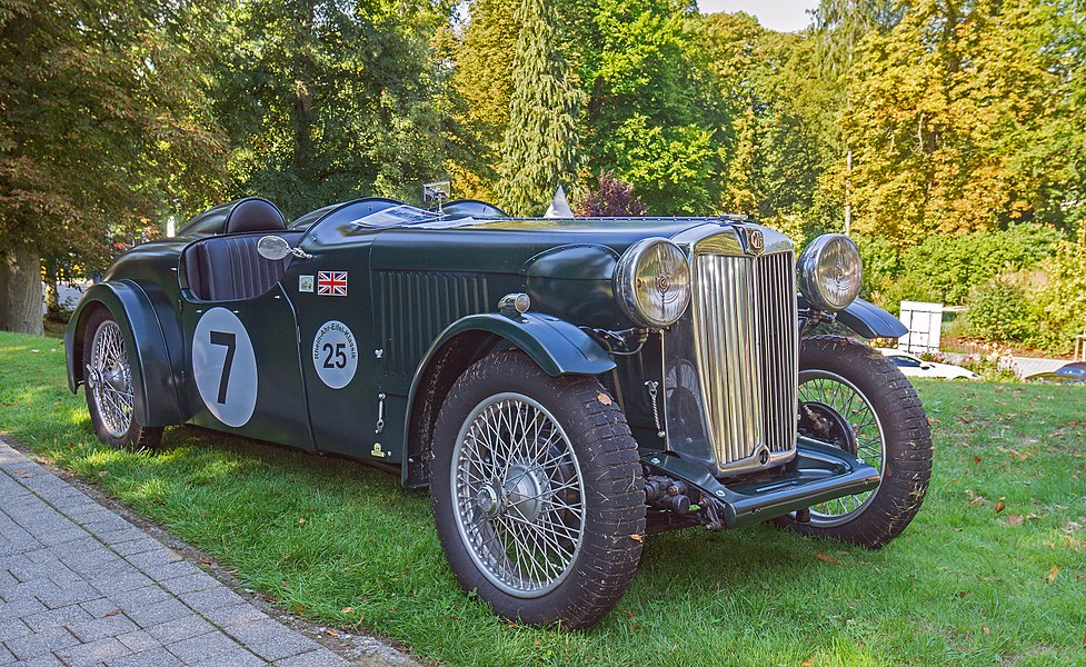 "1939 MG VA with special body at ""Make a Wish"" in the park of Mondorf. UK-Registration BRX 359."
